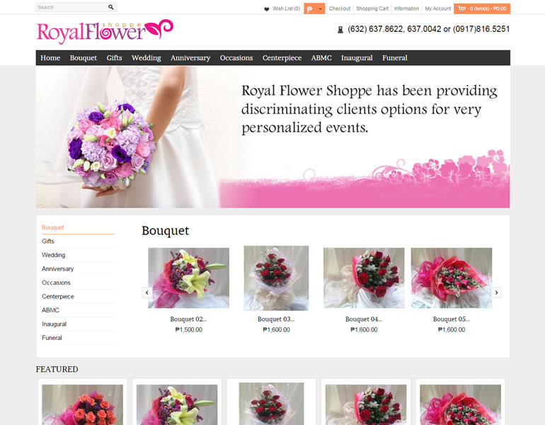 e-commerce - royalflowershoppe.com.ph